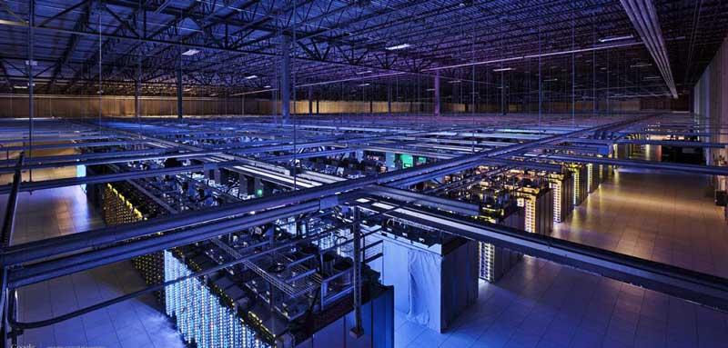 Website hosting: Google data center